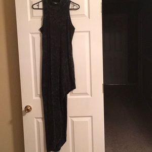 Dresses & Skirts - Ashy black high cut turtle neck maxi dress